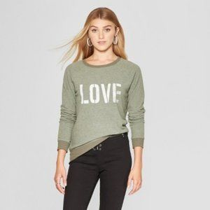 LOVE Distressed L/S Knit Top M by Grayson Threads